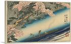 Cherry Blossoms in Full Bloom at Arashiyama Canvas Art Print Utagawa Hiroshige