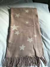 New Gap Pink Soft Scarf With Grey Stars