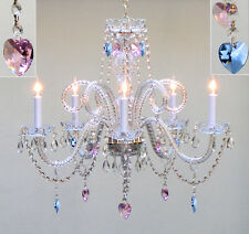Gallery chandeliers ebay stores authentic all crystal chandelier lighting w sapphire blue pink crystal hearts aloadofball Images