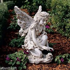 "Mystical Fiona The Flower Fairy 17"" Garden Statue Sculpture By Evelyn Myers Hart"
