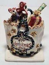 Blue Sky Clayworks Heather Goldminc The Christmas Store Bag of Gifts Tea Light