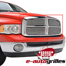 02-05 Ram1500+HD Aluminum Polished 8mm Horizontal Overlay Billet Grille Grill