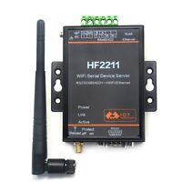 Serial RS232 RS485 RS422 To WIFI Ethernet Conversion Server RJ45 + Antenna Cable