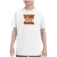 Youth Kids Gildan T-shirt If You Think I'm Cute You Should See My Nana k-339