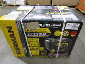 Firman W03383 Remote Start Gas Generator 3650/3300W