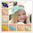 New Kids Girls Baby Headband Toddler Lace Flower Hair Band Accessories