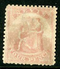Nevis 1862 4d rose P13 SG 2 Unused