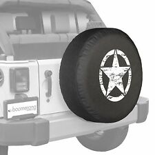 "32"" Oscar Mike Star - Spare Tire Cover - Jeep Wrangler Freedom Edition - White"