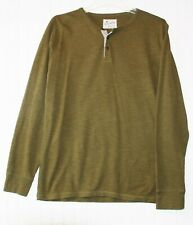 Lucky Brand men's Medium Henley long sleeve T-shirt fatigue olive color