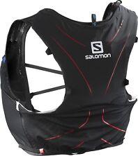 Salomon Unisex Adv 5 Skin Set, Black/Matador, Medium/large