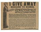 1905 Magic Secret Cure-Female Diseases & Piles-Kokomo IN-Quack Medicine