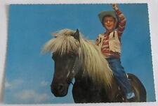 Cartolina d'epoca -  Bambino a cavallo -  postcard - tarjeta -