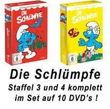 10 DVDs  * DIE SCHLÜMPFE - STAFFEL 3 + 4 IM SET # NEU OVP <