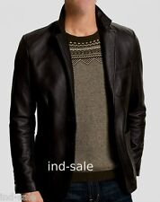 Custom Tailor Made All Sizes Genuine LEATHER JACKET EDH Blazer Slim Fit