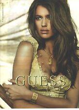 PUBLICITE ADVERTISING 2009  GUESS bijoux montres