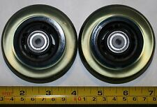 """New replacement Clear inline Luggage Wheels w/ axles, size: 3"""" ABEC-9 bearings"""