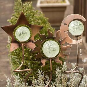Echo Valley Illuminarie Celestial Potstickers, Set Of 3 Glow in the dark garden