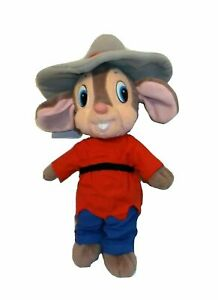 Vintage Applause Fievel Plush American Tail Goes West Stuffed Cowboy Mouse 1991