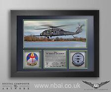 56th Rescue Squadron Patch FRAMED PRESENTATION, RAF Lakenheath 56th RQS 48th FW