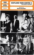 FICHE CINEMA : SCOTLAND YARD CONTRE X - Granger,Lee,Dearden 1961 Secret Partner