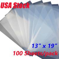 "USA! 100 Sheets 13"" x 19"" Waterproof Screen Printing Inkjet Transparency Film"
