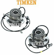 For Dodge Ram 1500 4WD 1997-1999 Pair Set of Front Wheel Bearings & Hubs Timken