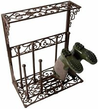 Elegant Victorian Cast Iron Boot Holder - Holds 4 pairs of Boots