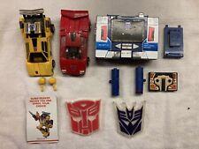 Transformers G1 Sunstreaker, Sideswipe, Soundwave, Buzzsaw Lot