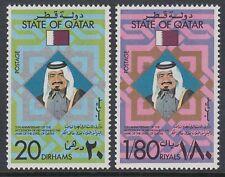 Qatar 1977 ** Mi.722/23 Thronbesteigung Regentschaft Accession of Sheikh al Tani