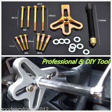 Portable Carbon Steel Car Harmonic Balancer Puller Steering Wheel Crankshaft Kit
