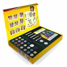 Snazaroo Large FACE PAINTING Gift Box Make Up/Sticks/Guide/Brushes/Stencils+