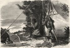 SPORT INVERNALI in Canada. Moose CACCIA: GIOCO in vista. Racchette da neve, Stampa, 1868