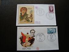 FRANCE - 2 enveloppes 1er jour 1969/1970 (cuvier/merimee) (cy64) french