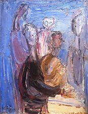 Richard Mandin, huile sur carton, 1967, peintre de Marseille (v)