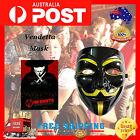 Halloween V for Vendetta Mask Anonymous Guy Fawkes Fancy Dress Costume BLACK