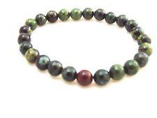 Dragon Blood Jasper 8mm Beads Bracelet Stretch Crystal Reiki Meditation Healing