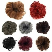 Women Hair Extension Bun Ponytail Holder Elastic Curly Wig Hairpieces Scrunchie