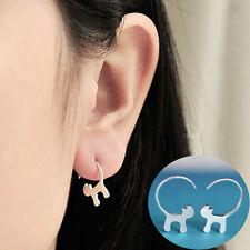 Mujer Pendientes de botón Colgante gato Mini zarcillos Aretes Earrings Ear Studs