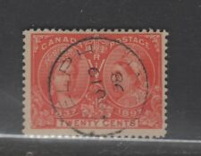 CANADA #59 20 cent vermilion JUBILEE used cds f-vf