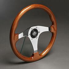 Volante madera volante deportivo madera cromo 330mm buje Opel GT manta a B récord Kadett C
