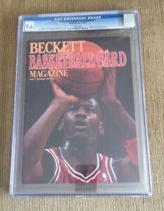 Beckett Magazine #1 1990 Jordan First Cover Newsstand CGC 9.6 NO LABEL