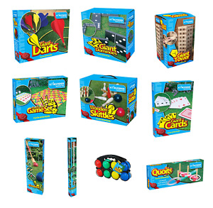 Outdoor Games Giant Garden Party Summer Lawn Kids Fun Dominoes Quoits Jenga