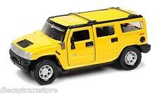 Maisto Hummer 4 Doors SUV Wagon Yellow 1/18 Diecast car 36631yl