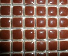 81 Mini Azulejos de mosaico de cerámica glaseada 10 Mm-Burnt Umber