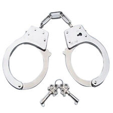 METAL HANDCUFFS FANCY DO KIDS TOYS ROLE PLAY POLICEMAN  Gift