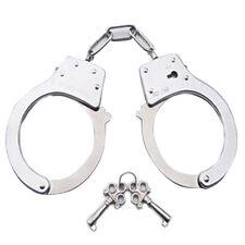 Handschellen aus Stahl Polizei Aufgaben Double Lock Keys Spielzeug-Handcuff-SDK