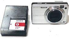 Sony Cyber-shot Carl Zeiss DSC-W150 8.1MP Digital Camera w/ Charger, Extra Batt.
