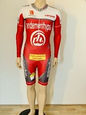 Cycling suit, skinsuit, speedsuit, size S, red/ withe
