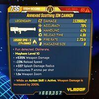 (PS4) Borderlands 3 [Level 65/Mayhem 10] Ion Cannon (Fire) (200%DMG-ASA)