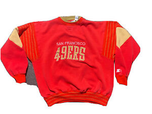 Starter Vintage 90sSF 49ers Sweatshirt Arch Logo Elbow Pads Sideline On Field Xl